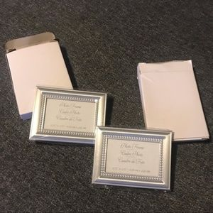 Silver Small Frame / Place-card Set